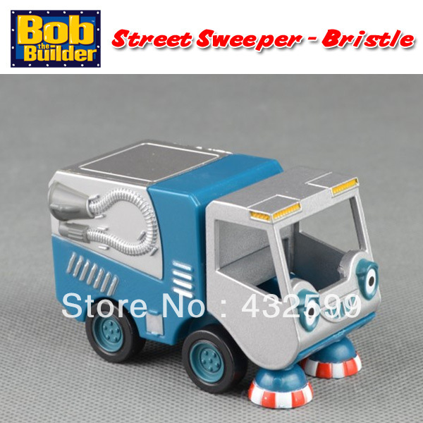 Brand New Bob The Builder Diecast Metal Vehicle Toys Street Sweeper Bristle Loose In Stock(China (Mainland))