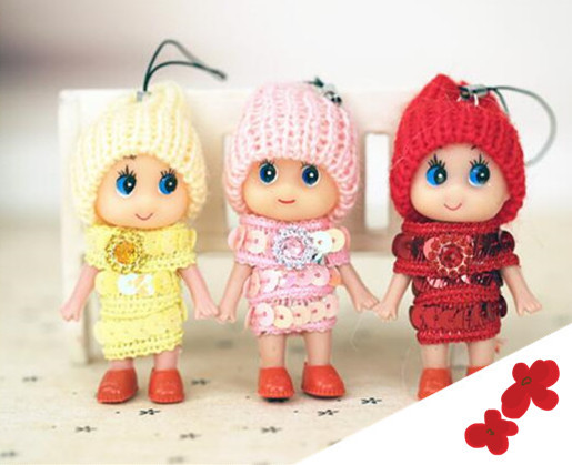 1 pc New Kids Toys Confused Dolls with Sequin Mini Cute Doll for Girls Soft Interactive Baby Dolls Small Pendant