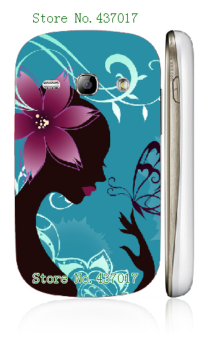 rose flower butterfly dog animal hybrid white plastic hard back cover case for Samsung Galaxy fame s6810,free shipping(China (Mainland))