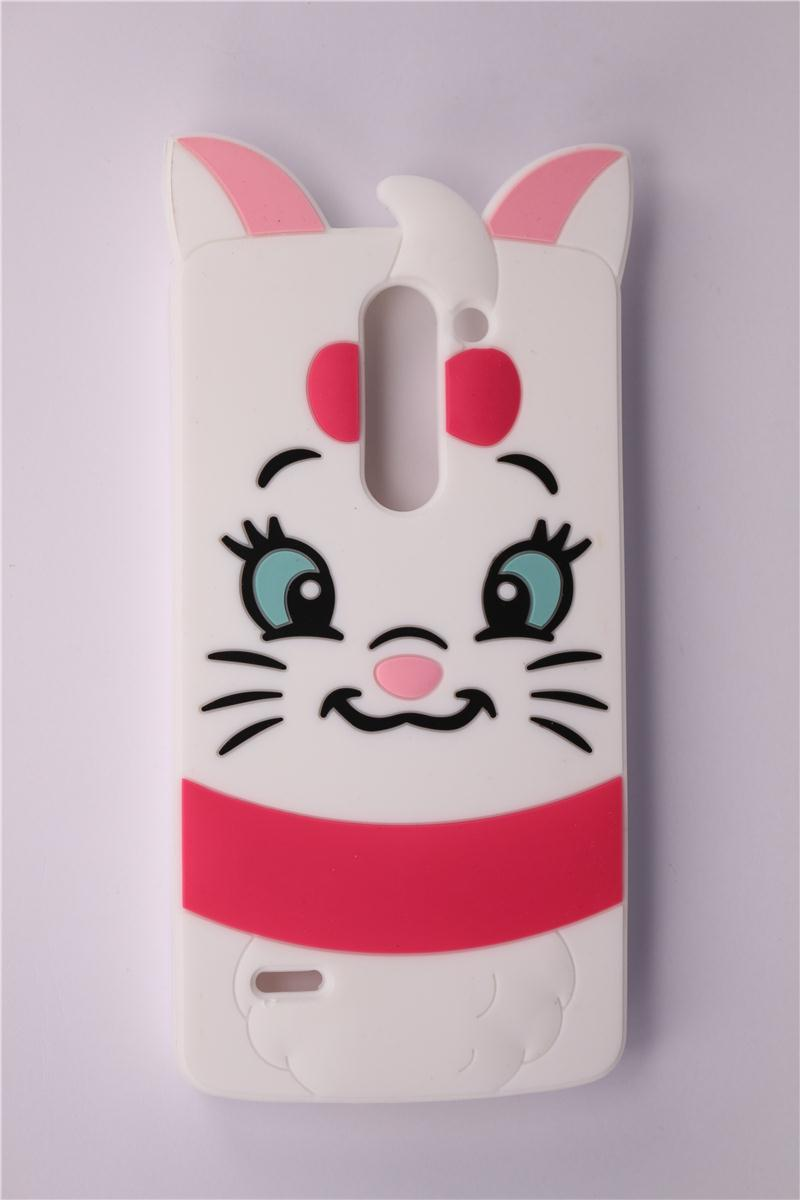 Mobile Phone Case LG G3 Stylus D690 D690N 2015 New Soft Silicone Lovely 3D Cartoon Marie Cat Pattern Protective Covers - All the Best Things store