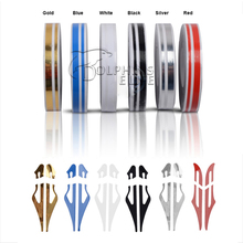 Newest Fashion DIY Car Styling 12*9800mm Sticker Fashion Decoration Strip PVC Whole Body Decals Stickers 6 Colors Car-styling(China (Mainland))