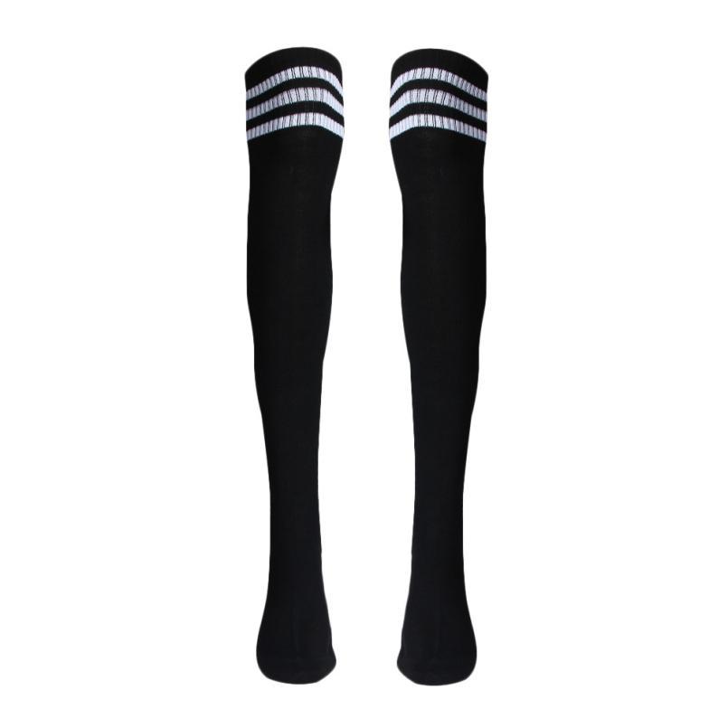 Горячая распродажа 2015 мода 1 пара бедро высокие носки над девушки футбольные гетры бесплатная доставка S19