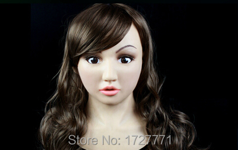 SF-10 Crossdress masquerade fancydress cosplay girl realistic human face silicone female full head mask for Halloween partyОдежда и ак�е��уары<br><br><br>Aliexpress