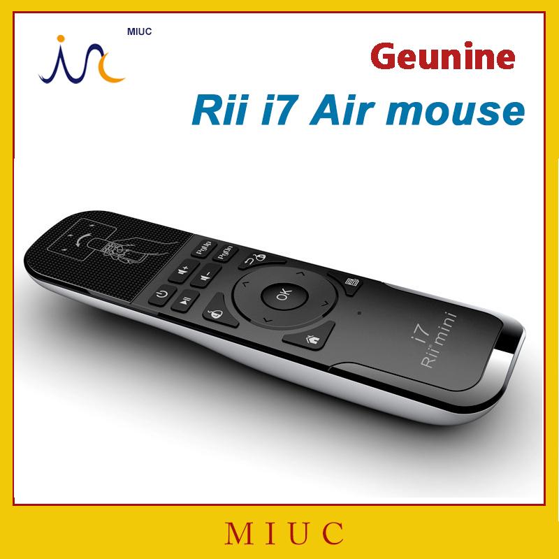 Подлинная мини летать воздуха мыши Rii i7 2.4 г беспроводной пульт дистанционного комбо встроенный 6 оси для PC / android-тв коробка / X360 / PS3 движения зондирования геймер