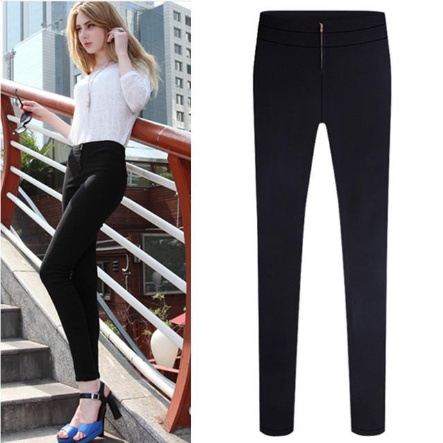 Aliexpress.com : Buy New fashion skinny black work pants for women ...