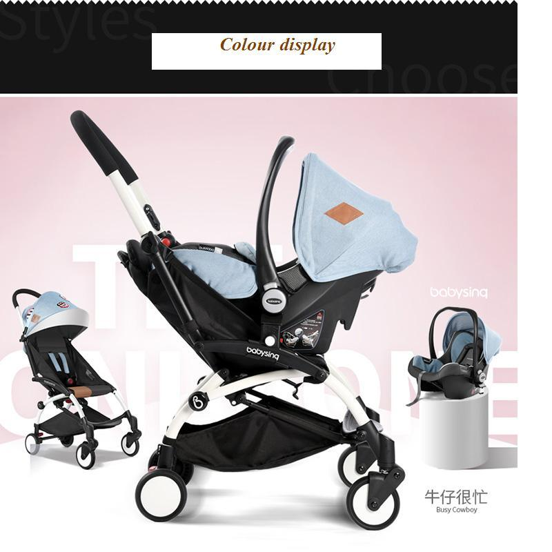 2016 New design Luxury baby stroller , foldable baby cart, 4 colour four wheels single seat pram,with car seat , 3 in1(China (Mainland))