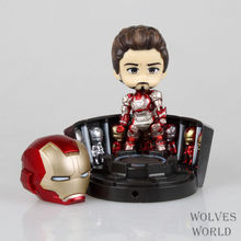 Buy Movie Figure 10CM Q Version Iron Man 3 Mark MK 42 Hero's Edition + Hall Armor Set PVC Action Figure Model Collectibles Toy for $16.79 in AliExpress store