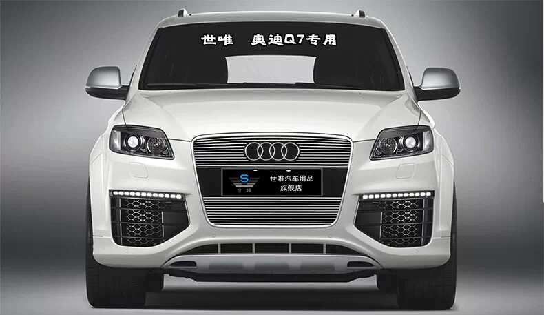 2007-2012 Q7 5dr Hatchbac High quality stainless steel Front Grille Around Trim Racing Grills Trim(China (Mainland))