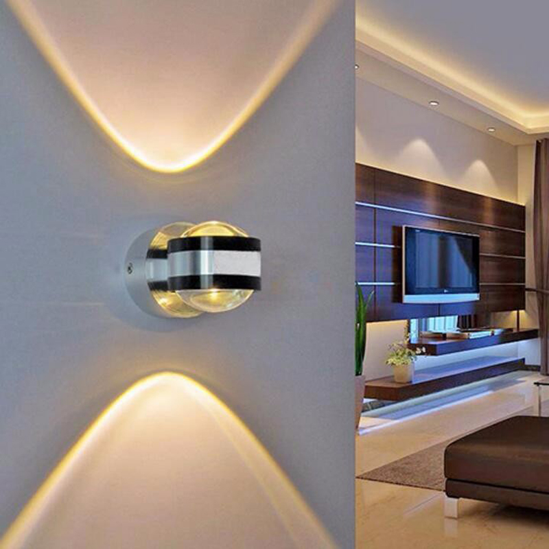 2W crystal convex lens led wall lamp AC85-265V led wall background light with driver for living room home decoration luminaire<br><br>Aliexpress