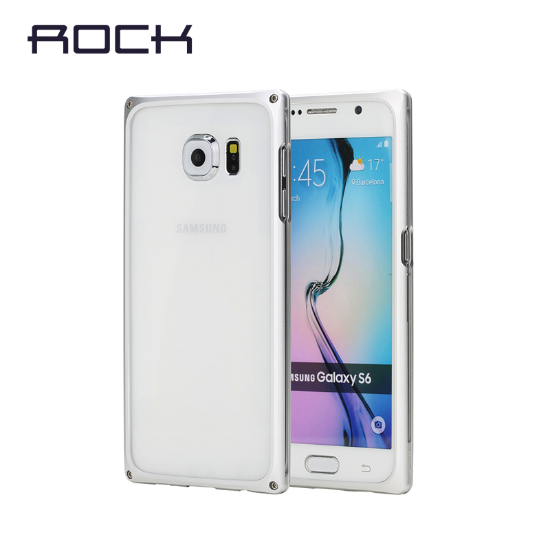 ROCK Outlets for Samsung Galaxy S6 Metal Bumper EVO Series Aluminum Bumper Frame for Samsung Galaxy S6 G9200 Phone Case Bag(China (Mainland))