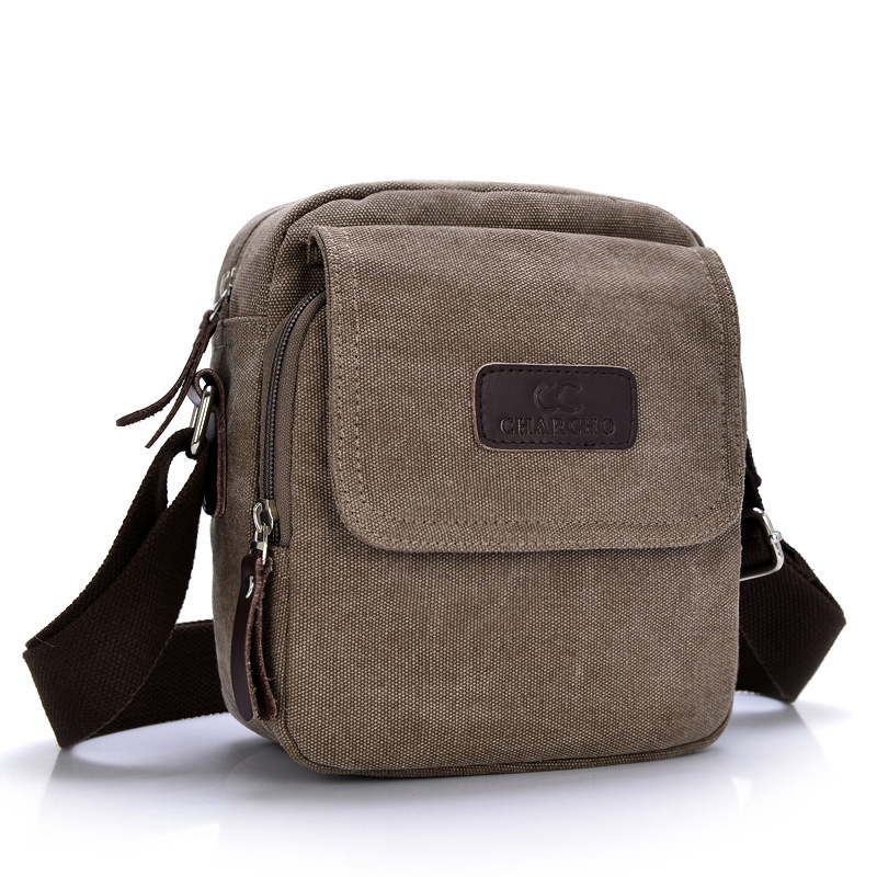 Hot Sell 2015 New Vintage Men Classic Hiking Canvas Messenger Bags Outdoor Travel Sports Small Shoulder Messenger Bags Male Bags<br><br>Aliexpress