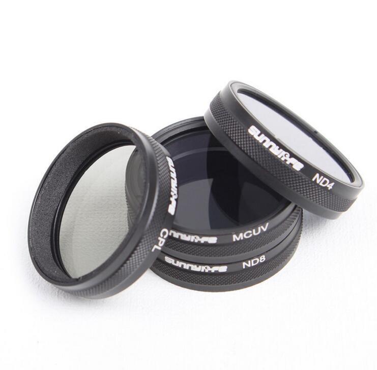 For DJI Phantom 3 / 4 Accessories ND4 / ND8 / MCUV / CPL Lens Filter for Phantom 4 Phantom 3 Professional  Advanced  Standard