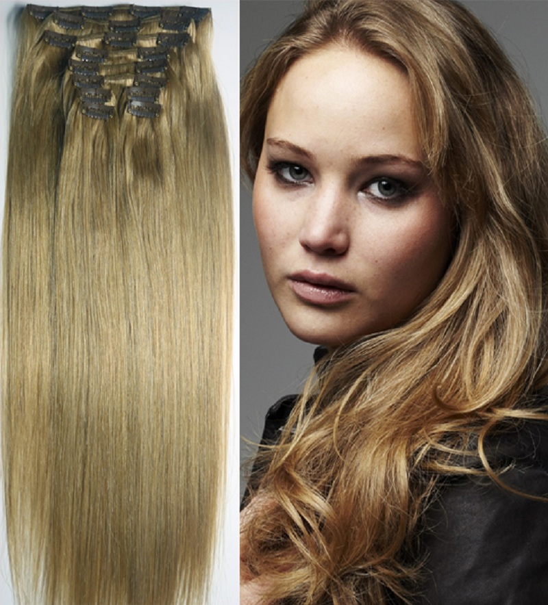 "16""-32'' 10pcs Set 100% Brazilian Remy Hair Clip In/on Human Hair Extensions #10 120g 140g 160g 180g 200g 220g(China (Mainland))"