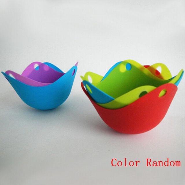 Silicone Egg Poacher (Random Color)