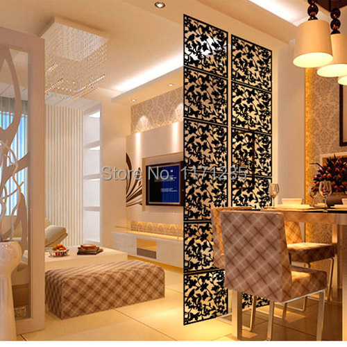 modern fashion contract birds hanging screen partition wall stickers room dividers hollowout home screen home decor