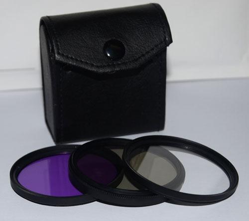 37mm Camera Filter Kit UV + CPL + FLD Lens Filter Set For DSLR Camera(China (Mainland))