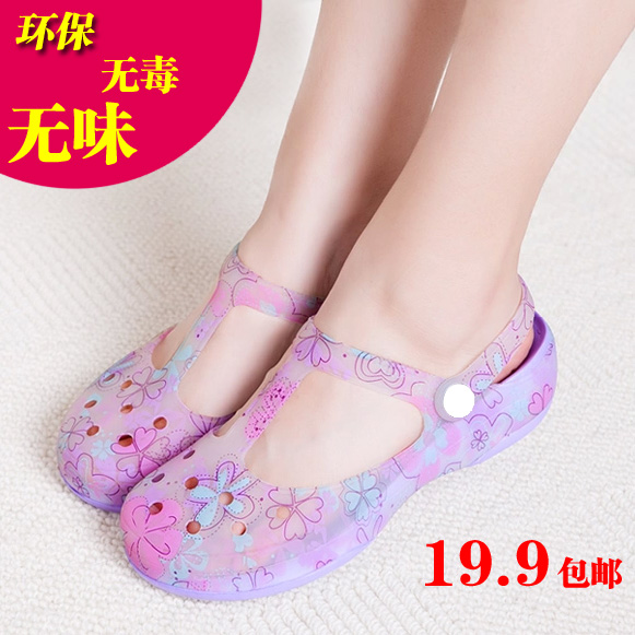 Summer print 2014 hole shoes female sandals Mary Jane platform shoes jelly color womens girl sandals<br><br>Aliexpress
