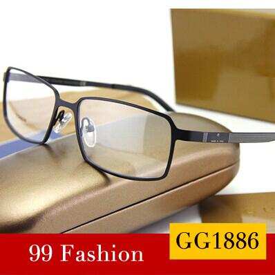 New 2014 Designer High Quality Glasses Frame Brand GG1886 Fashion Pure Titanium Eyeglasses Optical Frame Full Eyeglasses Frame(China (Mainland))
