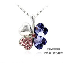 fashion women's flower necklaces(make with crystal element)#71599(China (Mainland))