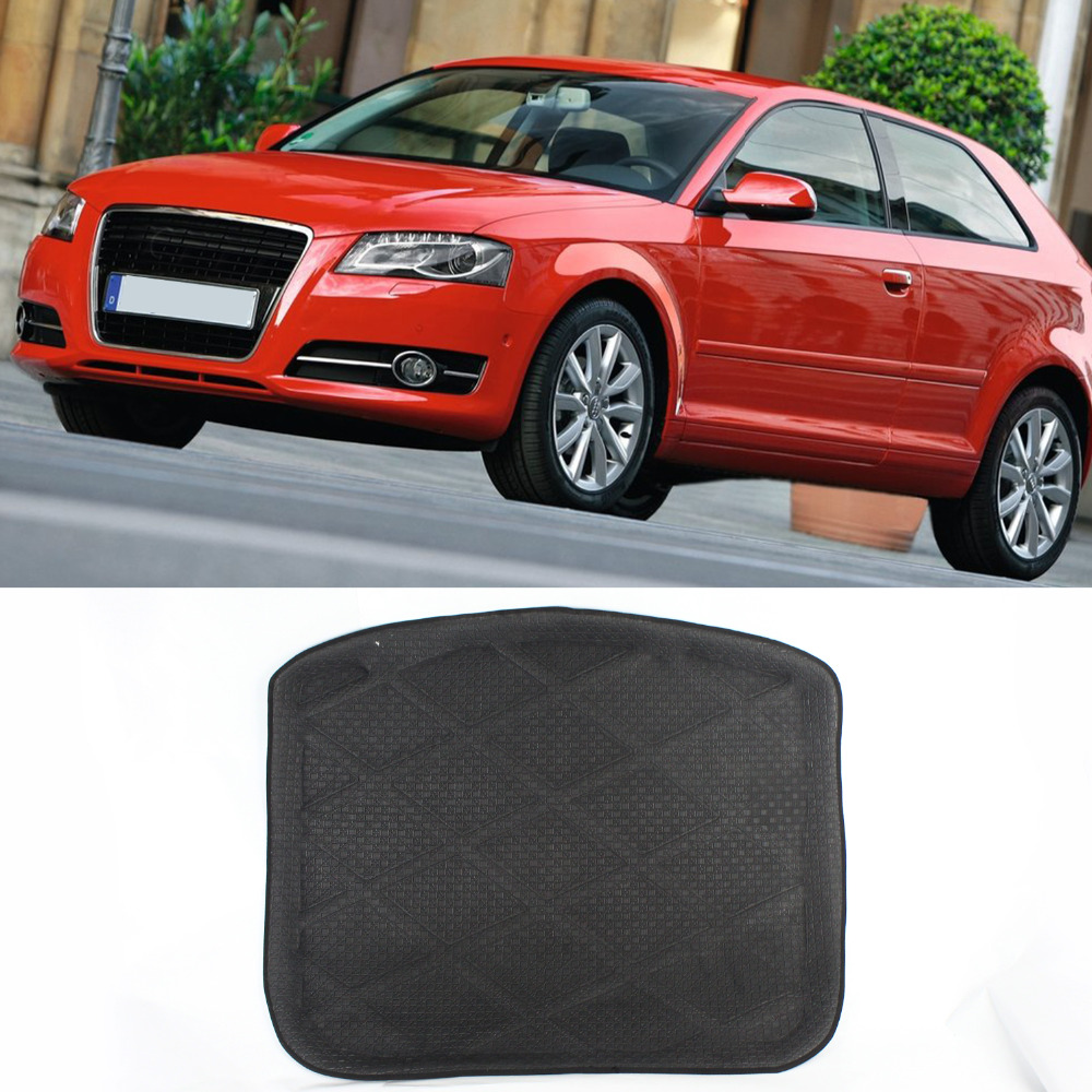 3D Black Car All Weather Waterproof Top quality Design Cargo Truck Mat Carpet Rear Tray Liner Protector For Audi A3