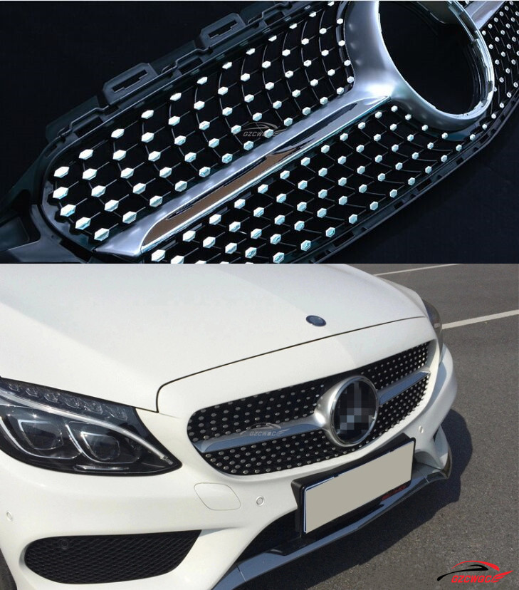 2015 abs w205 c450 amg diamond silver mesh grill grille for mercedes benz w205 new c class c250 - Grille indiciaire 2015 categorie c ...
