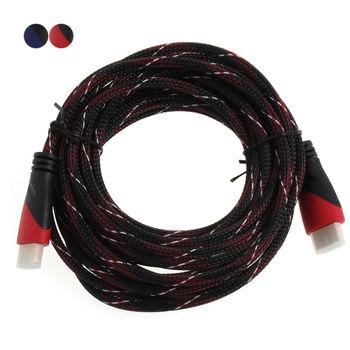 High Speed HDMI Позолоченный Кабель Подключения с Красным, черно-белая сетка 1080 P, 0.5 м, 1 м, 1.5 м, 2 м, 3 м, 5 м, 8 м, 10 м, 15 м