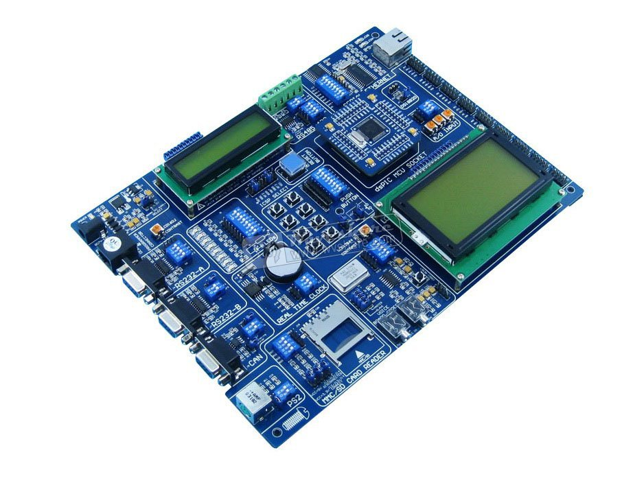 PIC Board dsPIC30F6014A PIC24FJ96GA008 dsPIC 16-bit PIC Microcontroller Development Board Kit Tool +LCD1602+LCD12864(China (Mainland))