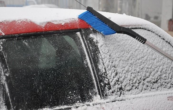 High-grade aluminum telescopic snow brush snow shovel snow shovel car sport utility vehicle with snow shovel brush(China (Mainland))