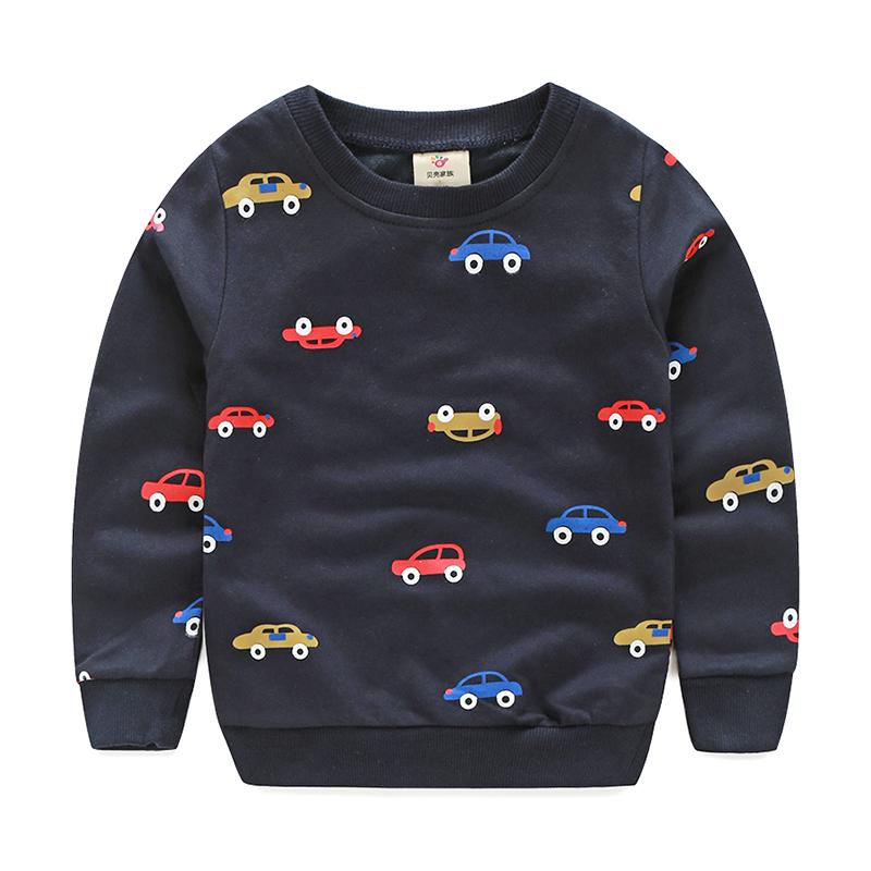 Spring Autumn Baby Pullover Hoodies Boys Cartoon Car Children's Sweatshirt Svitshot For Boy Bape Kids Boys Clothes BK88(China (Mainland))
