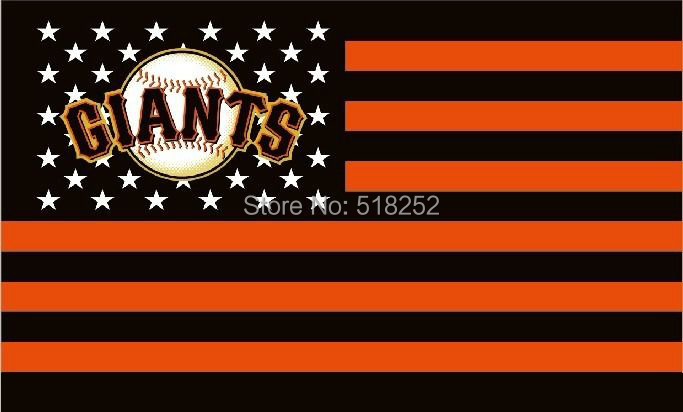 MLB San Francisco Giants US star stripe Flag 3x5 FT 150X90CM Banner 100D Polyester flag 1034, free shipping(China (Mainland))
