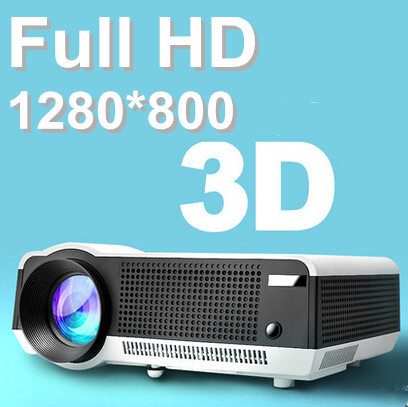 Full hd 3d led home projectors 200W led lamp brightness enough for daytime use for Gaming TV Shows,Watching Movies