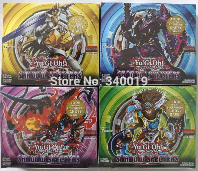Yugioh 806 shadow specters English version 216 cards/pack yugioh board game yugioh boxes send at random