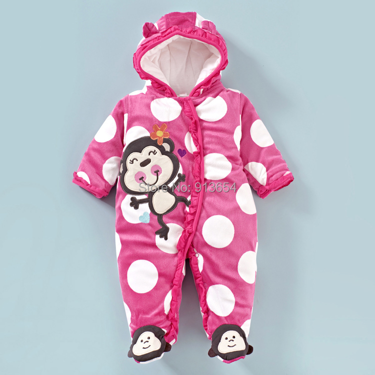 2014 autumn winter romper baby clothes newborn rompers girls long sleeved jumpsuits kids monkey warm overall wear - Sunny Baby fashion Store store