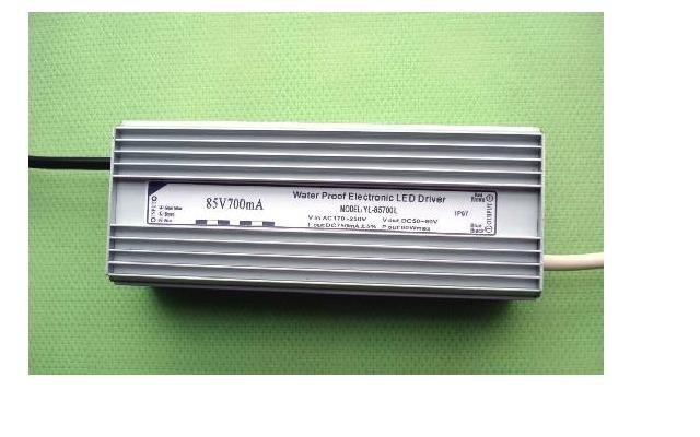 waterproof led constant current driver;AC90-250V input;output 700mA/60W;P/N:YL-85700L