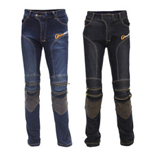 HOT SELLING! Locomotive Motocross Cycling Jeans With Knee Protector Gear Rider Motorcycle Moto Racing Pants M-XXL(China (Mainland))
