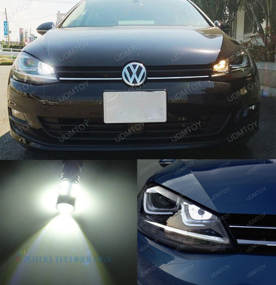 2PCS High Power LED Daytime Running Light DRL Replacement Bulb for VW Golf MK7 Golf7 Golf VII(2013-up with xenon headlight only)(China (Mainland))