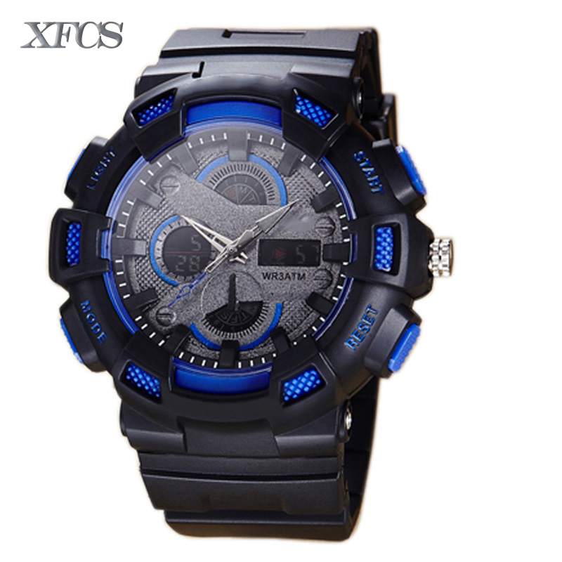 XFCS 2017 waterproof watches for men original man automatic watchs esportivo mens top brand digitales watch military clock cheap(China (Mainland))