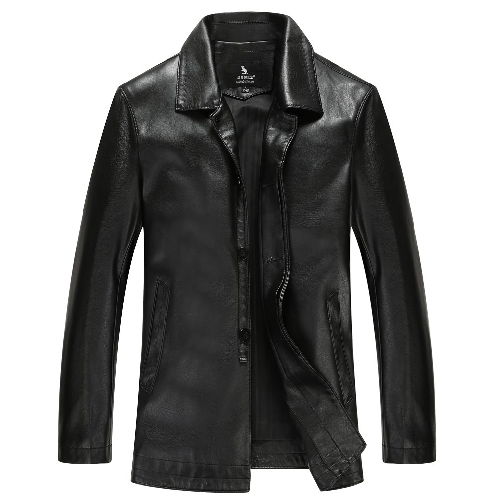 New 2015 Autumn and Winter Casual Jacket Men Second Layer Leather Jacket Man Jackets Free Shipping(China (Mainland))