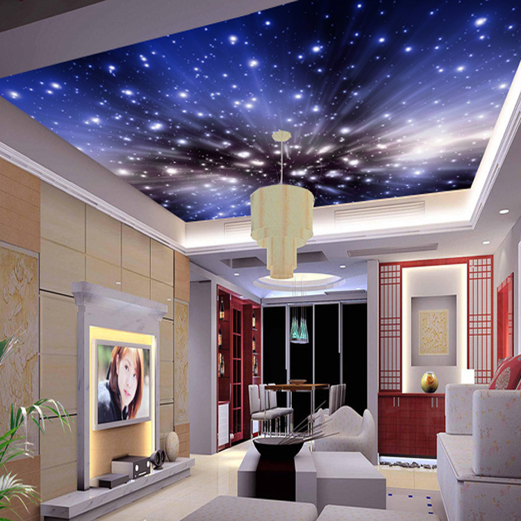 wallpaper murals cosmic star ceiling fresco ceiling custom bedroom