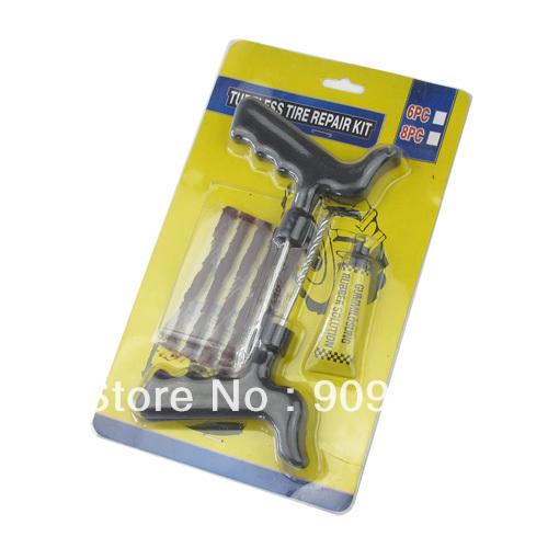 5pcs Motorcycle/Car Tubeless Tyre Puncture Plug Repair Kit Free shipping(China (Mainland))