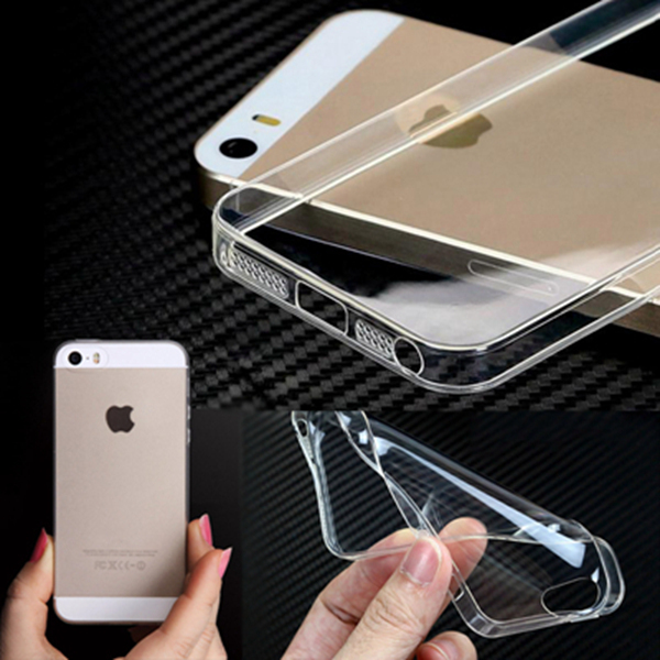 For Apple iPhone 4S 5S 6 4.7'' 6 Plus 5.5'' Soft Clear Cases 0.3MM Super Slim TPU Gel Silicon Phone Case Transparent Cover Bags(China (Mainland))