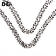 Buy DC 5meter/lot Silver Tone Stainless Steel Open Link Chain Jewelry Bulk Chain DIY Necklaces Bracelets Jewellry Making for $9.78 in AliExpress store