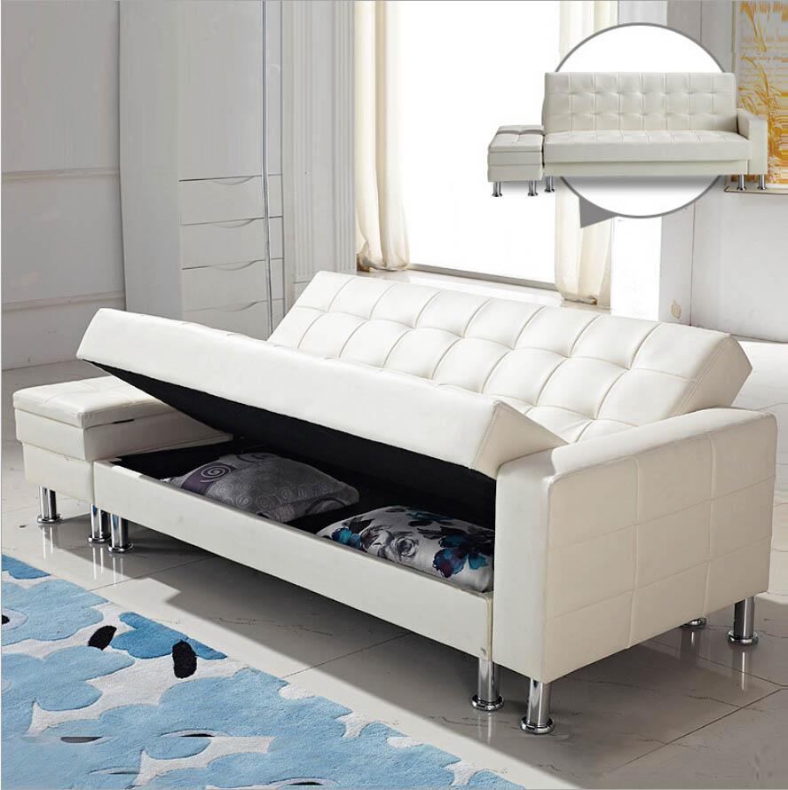 Design pu sofa sets multi function lazy sofa bed furniture living room