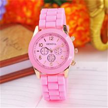MEIBO Geneva Casual Watch Women Dress 15 Colors Silicone Unisex Quartz Wristwatch Fashion Sports Watches Saat Relojes Mujer 2017(China)