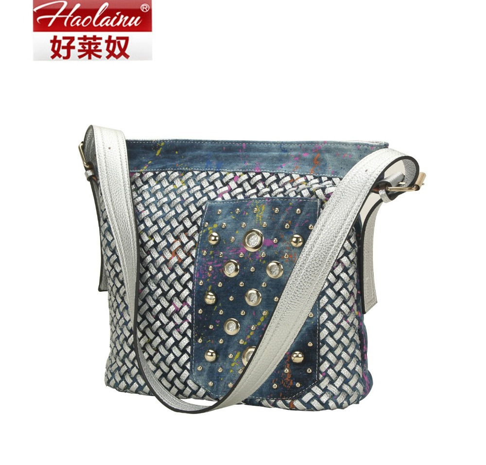 2015 new shopping bag women shoulder bags fashion big women's handbags woven tote ladies sac a main bag(China (Mainland))