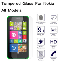 0.3mm Slim Tempered Glass Clear Front Screen Protector For Nokia Lumia 535 640 1320 530 630 830 1520 930 guard pelicula de vidro