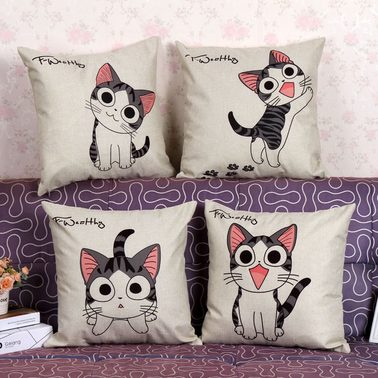 Printed cartoon cat household linen pillow, pillowcase,Home Textile-Pillow Case(China (Mainland))