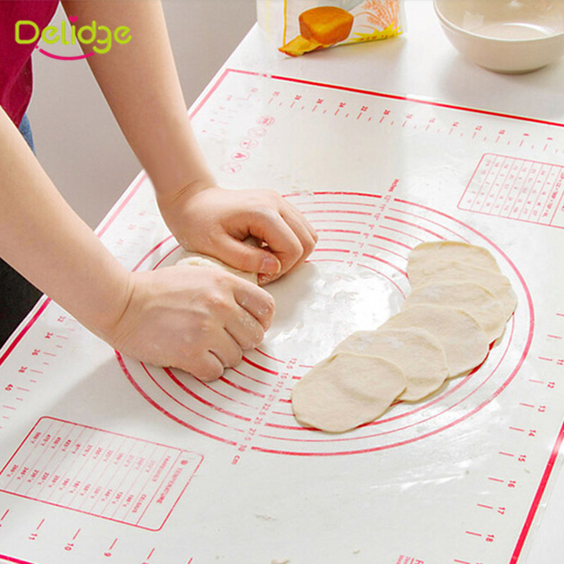 1 pc Non-Stick Silicone Baking Liner 2 Size Soft Kneading Dough Mat Bakeware Mat Silpat Silicone Rolling Pastry Mats(China (Mainland))