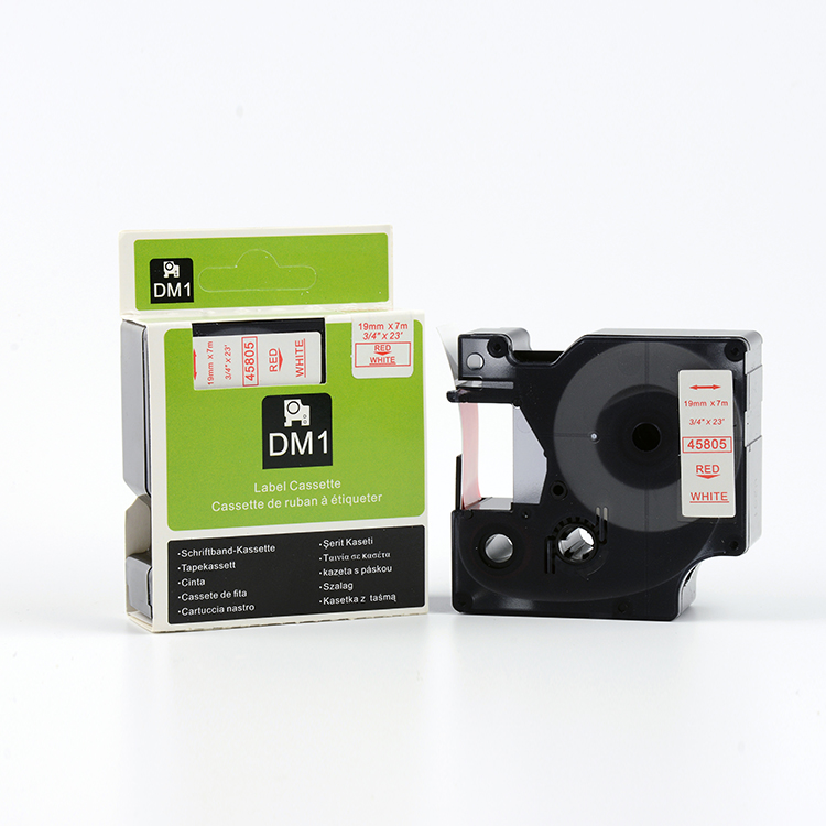 Compatible DYMO label manager tape D1  45805 45806 45807 45808  45809 black on white 19mm<br><br>Aliexpress