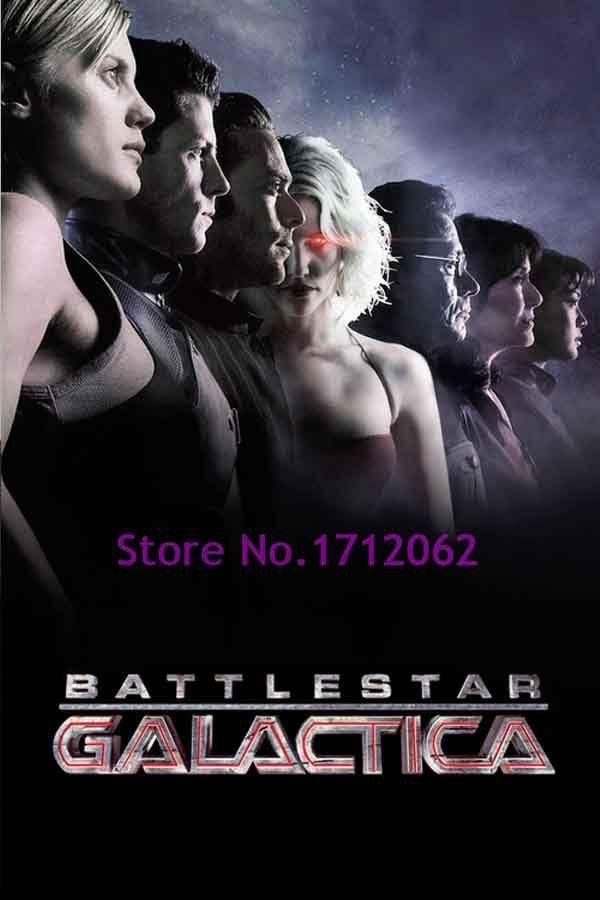 Tv Show Battlestar Galactica Katee Sackhoff Jamie Bamber Poster Measures 20 x 30 Inches Home Decor Wall Sticker(China (Mainland))